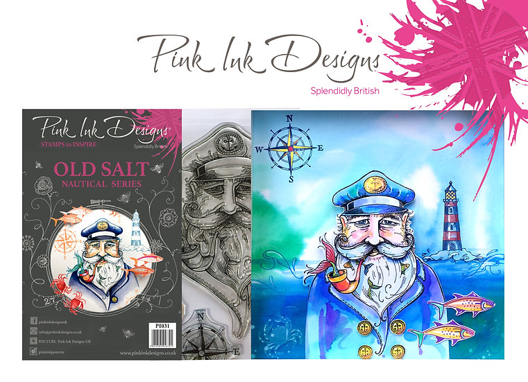 Pink Ink Designs Stamp - Old Salt Sailor - Plus Bonus Dinky Pinky Stamp