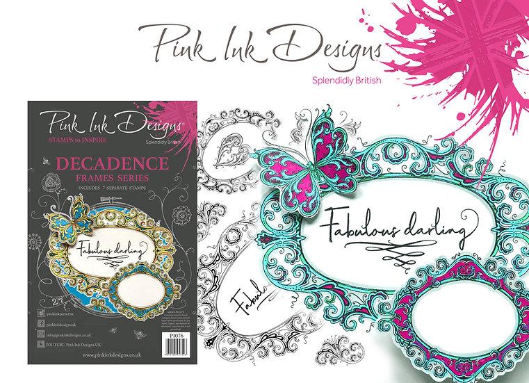 Pink Ink Designs Stamp - Frames - Decadence - Plus Bonus Dinky Pinky Stamp