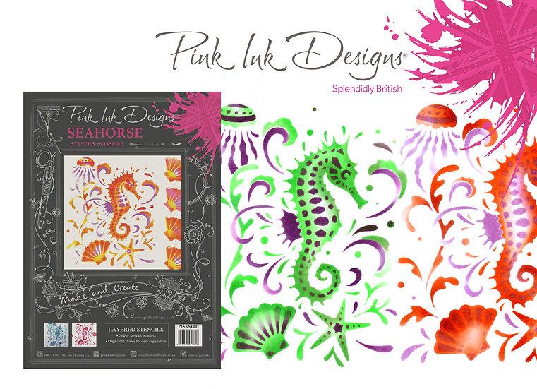 Pink Ink Designs Layered Stencil - Seahorse