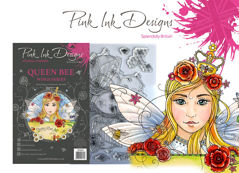 Pink Ink Designs Stamp - Queen Bee - Plus Bonus Paper