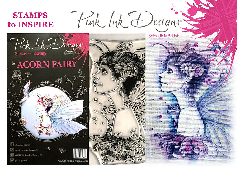 Pink Ink Designs Stamp - Acorn Fairy - Plus Bonus Dinky Pinky Stamp