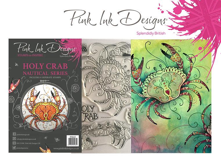 Pink Ink Designs Stamp - Crab - Plus Bonus Dinky Pinky Stamp