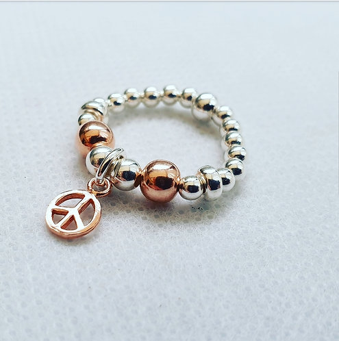 Rose gold peace ring