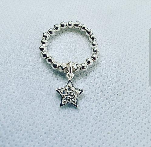 Cz star ring