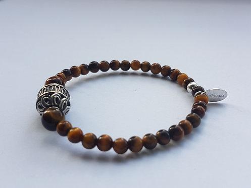 Tiger eye Barrel bracelet