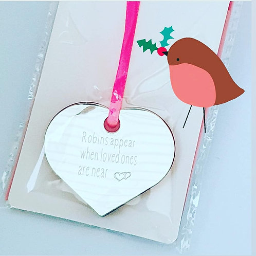 Christmas engraved heart