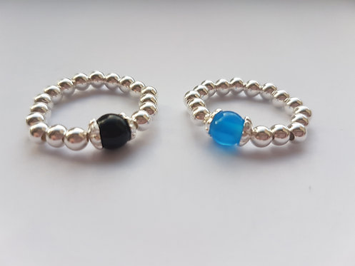 Black & Blue onyx duo set