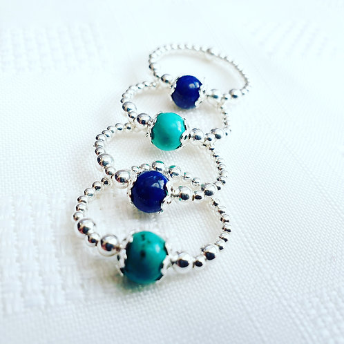 Sapphire & Turquoise rings