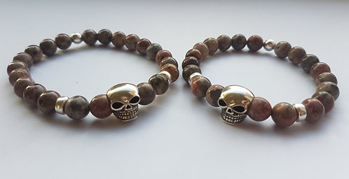 Leopard skin gem Skulls