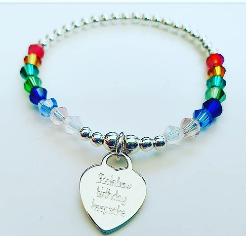 Rainbow message bracelet