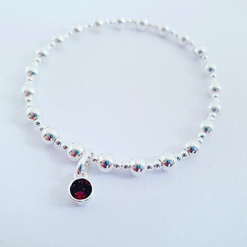 Amethyst charm bracelet