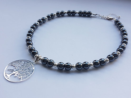 Tree of Life Hematite Choker