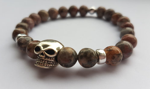Leopard skin Skull Bracelet