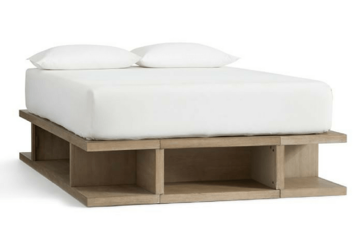 Pottery Barn Brooklyn Storage Platform Bed -- Sanabria & Co. loves this platform bed storage solution.