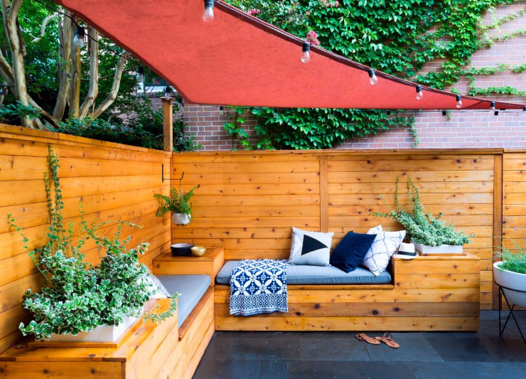 Urban Patio Makeover - Veggie Garden