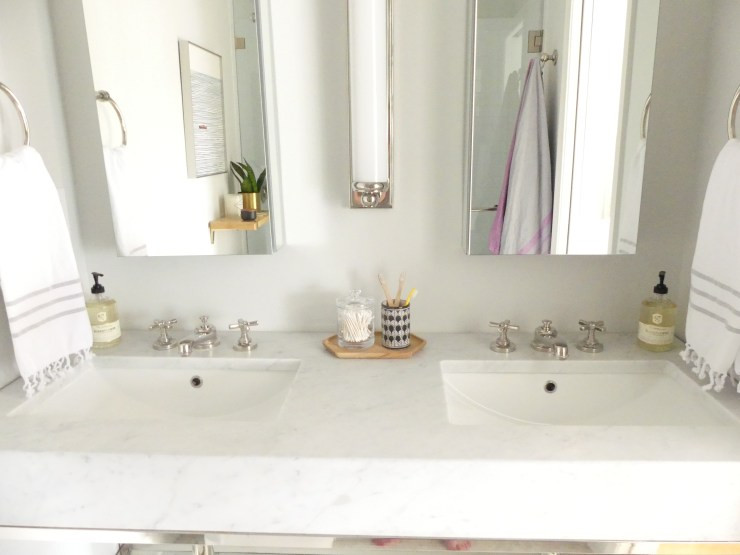 Small Master Double Sinks