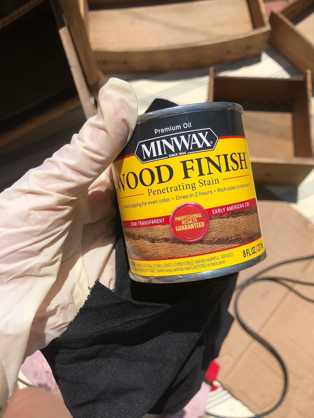Minwax Wood Finish Penetrating Stain in the color Early American.