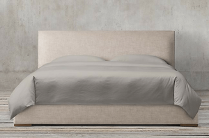 Restoration Hardware Lawson Panel Non-Tufted Fabric Bed -- Sanabria & Co. loves this platform bed storage solution.