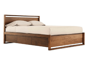 Design Within Reach Matera Bed with Storage -- Sanabria & Co. loves this platform bed storage solution.