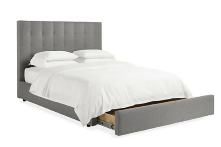 Room & Board Avery Upholstered Bed with Storage -- Sanabria & Co. loves this platform bed storage solution.