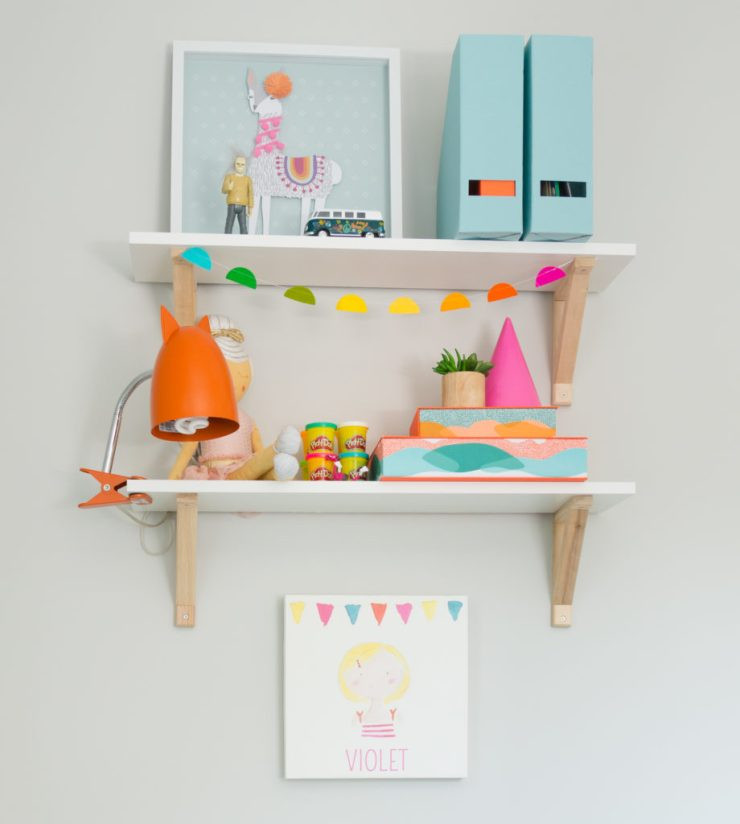 Toddler Craft Corner Shelf