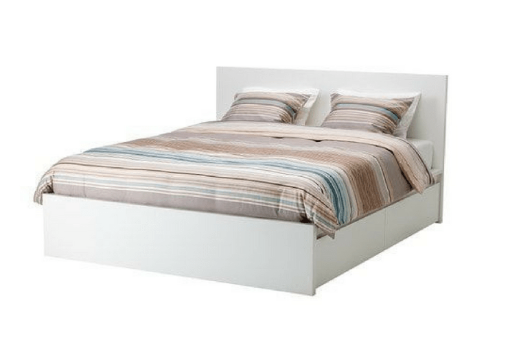 IKEA MALM Platform Storage Bed -- Sanabria & Co. loves this platform bed storage solution.