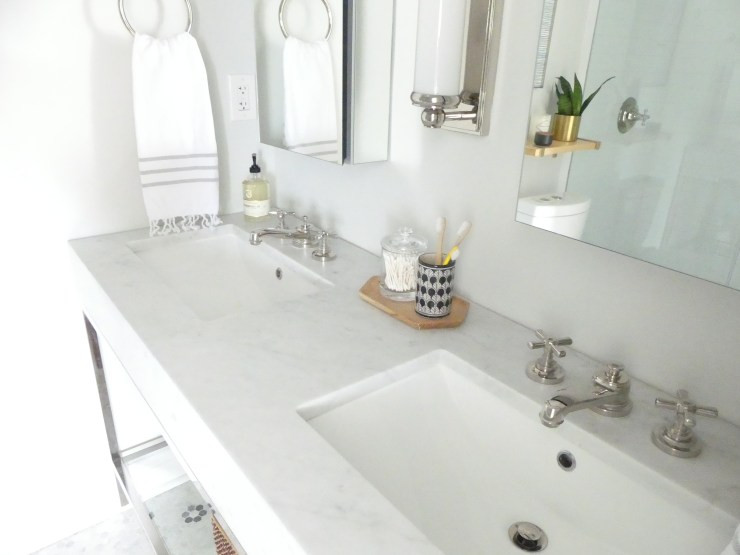 Small Master Bath Double Sinks