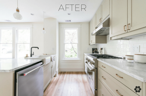 Sanabria & Co. Interior Design Studio - We are thrilled to share our kitchen reveal of this pretty little Takoma Park, Maryland flip house.