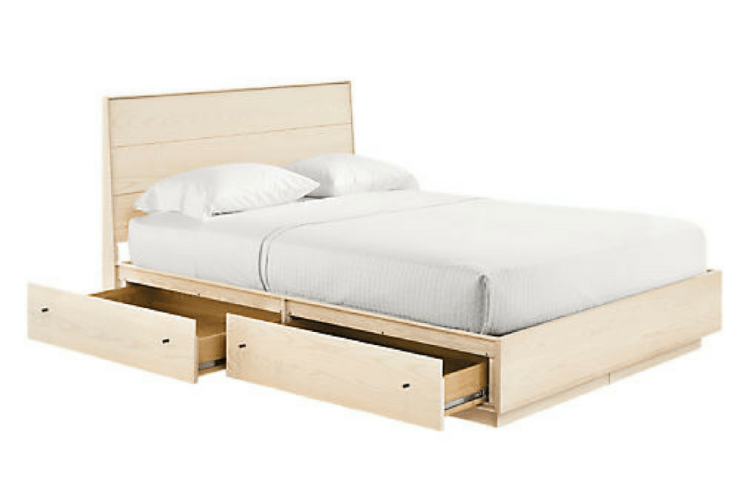 Room & Board Hudson Bed with Storage Drawers -- Sanabria & Co. loves this platform bed storage solution.