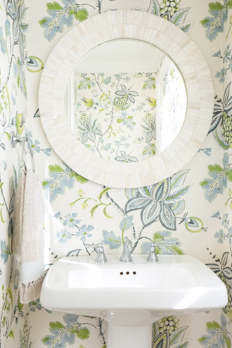 Mohindroo Powder Room Floral Wallpaper