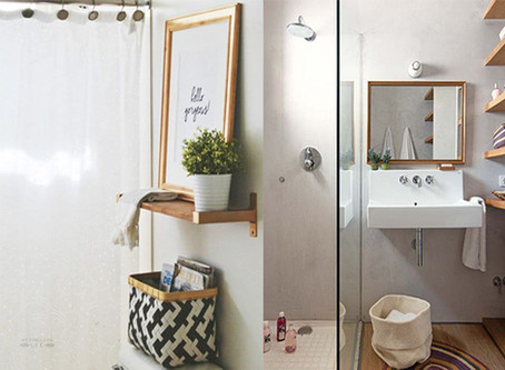 STORAGE SOLUTIONS FOR A SMALL MASTER BATH
