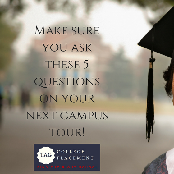 Thinking about a College Tour?  Make sure you ask these questions!