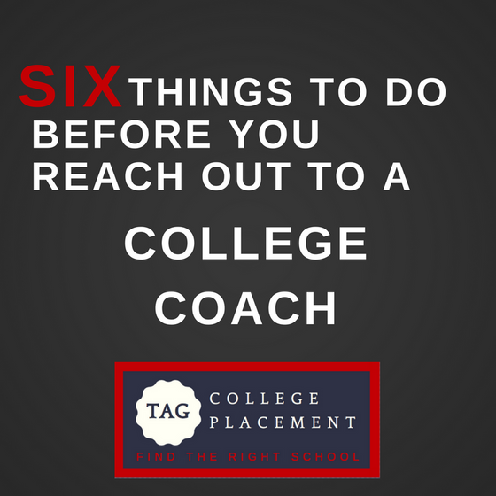 6 things to do before you start reaching out coaches