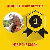 #1 coach in Sydney 2021 marie the coach.
