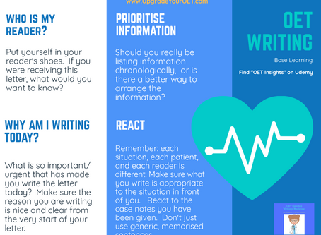 OET writing tips