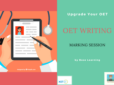 OET Letter Writing: Marking Session