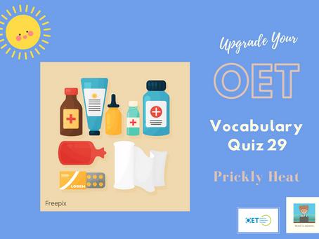 Upgrade Your OET Vocabulary Quiz 29