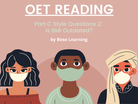 OET Reading Part C Practice