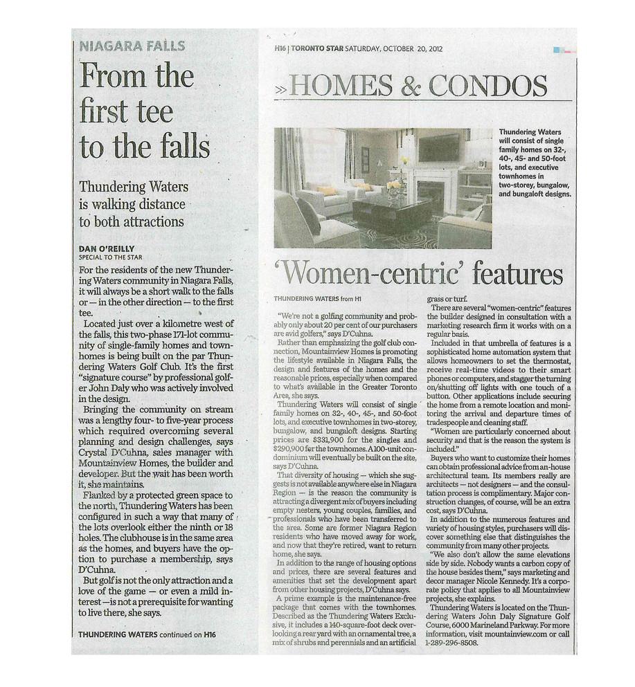 The Toronto Star - Mountainview Homes