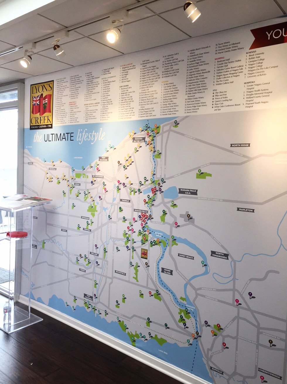 Lyon's Creek Amenity Map in Presentation Centre