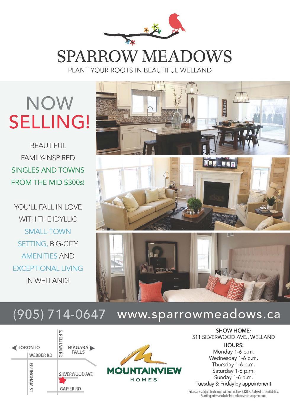 Sparrow Meadows Ad