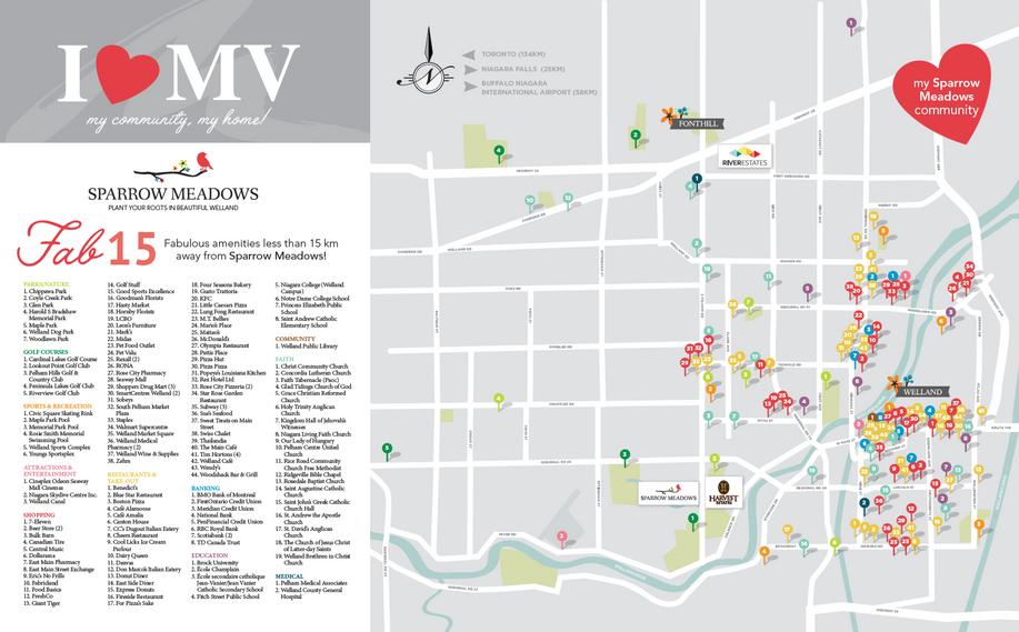Sparrow Meadows Amenity Map