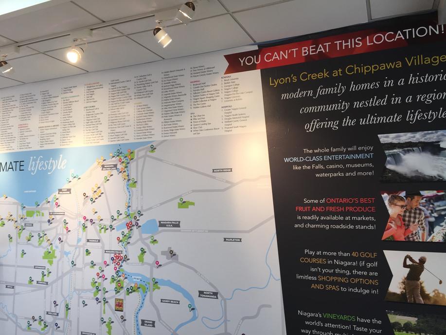 Lyon's Creek Presentation Centre Wall Map