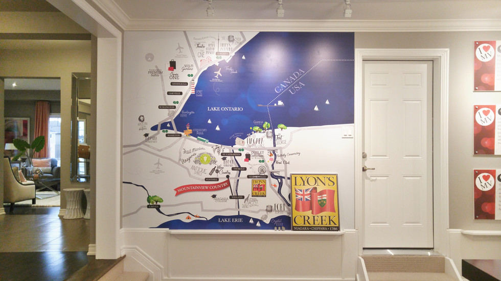 Mountainview Country Map in Presentation Centre