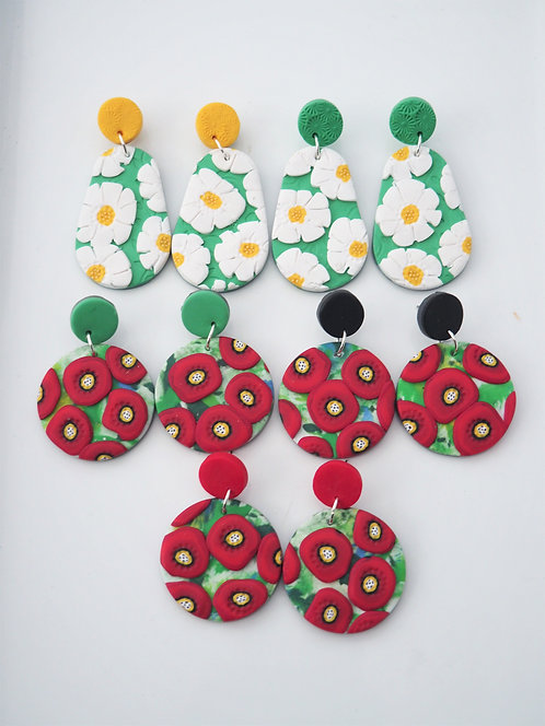 Daisy & Poppy statement earrings