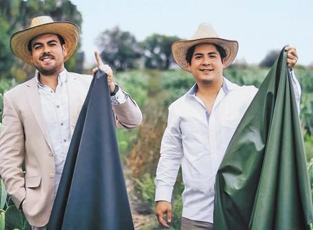 Jóvenes mexicanos crean piel a base de nopal.
