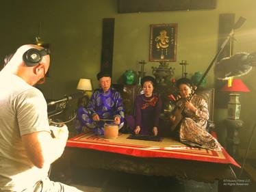 Director Benjamin Steger filming