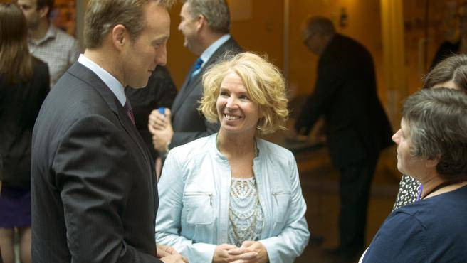 Dr. Marsha Campbell-Yeo with Peter MacKay