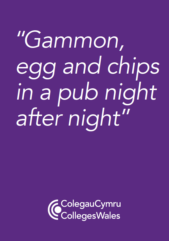 """""""Gammon egg and chips in a pub night after night."""""""