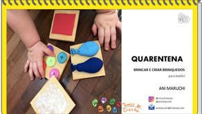 Quarentena - brincar e criar brinquedos para bebês